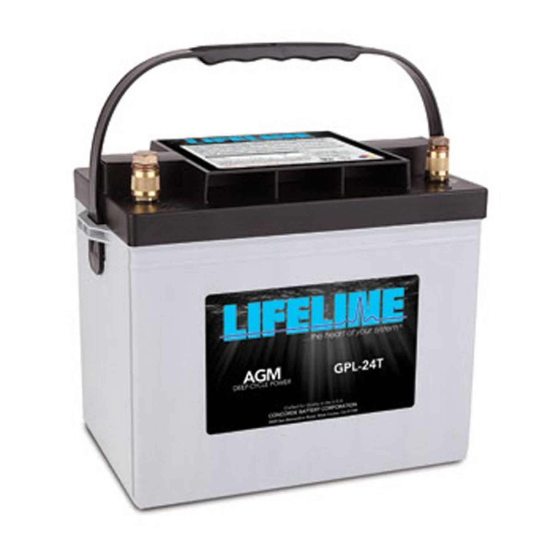 lifeline 12v 80 ah deep cycle sealed agm battery gpl 24t. Black Bedroom Furniture Sets. Home Design Ideas