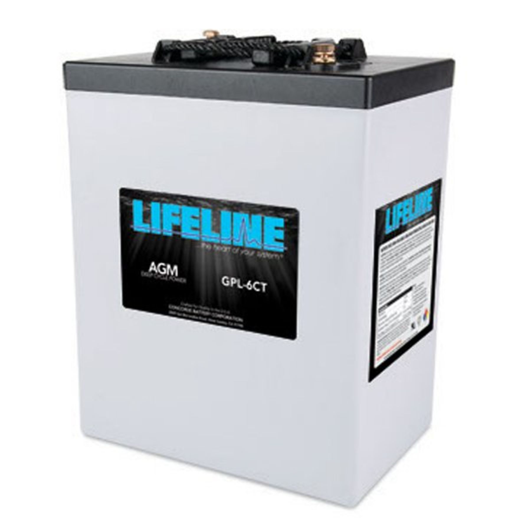 Lifeline 6v 300 AH Deep Cycle Sealed AGM Battery - GPL-6CT