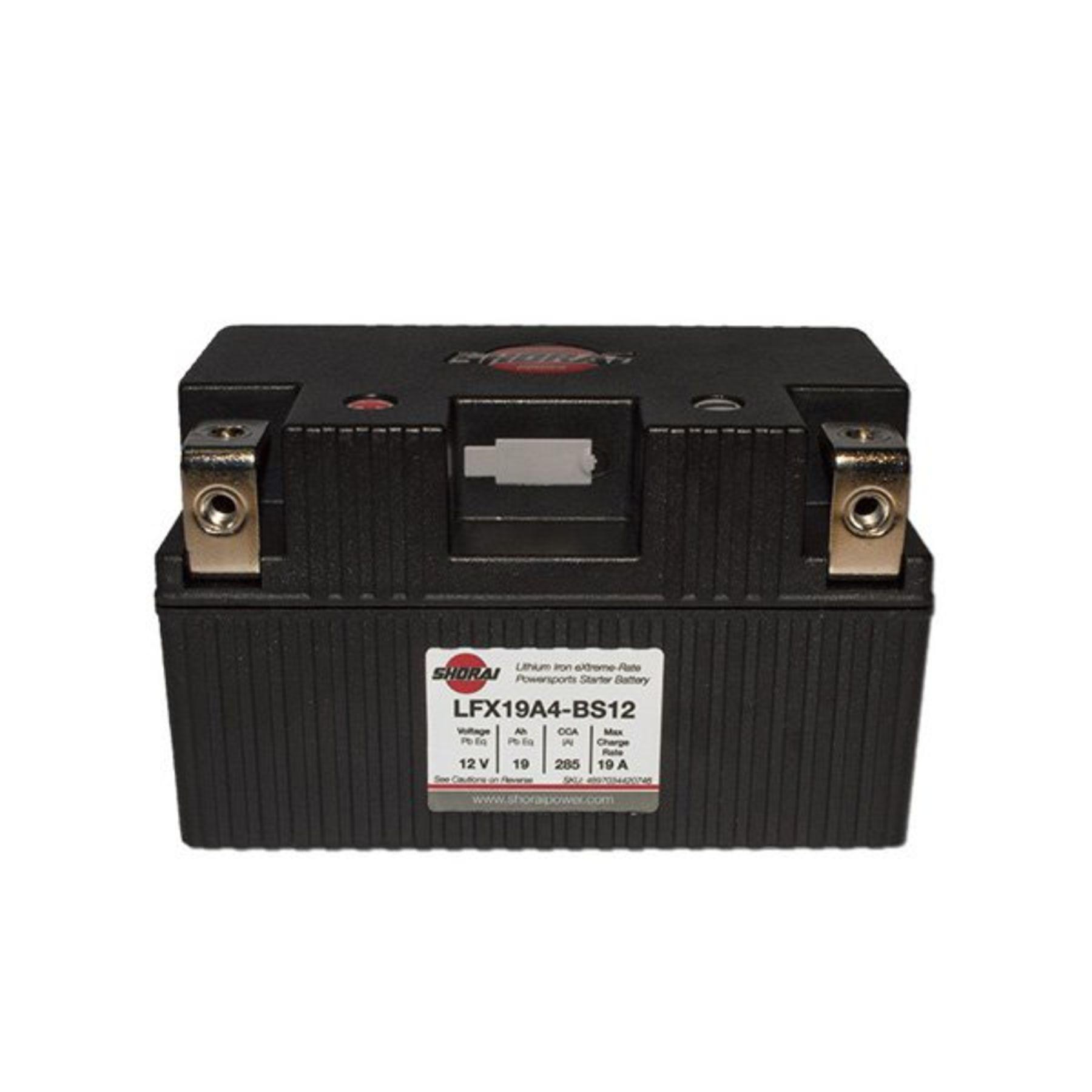 Lfx19a4 Bs12 Shorai 12v 19 Ah Pbeq Lifepo4 Battery 2011 Honda Vt1300cs Wiring Diagram