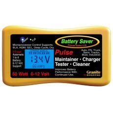 Battery Saver 6v 12v 50 Watt (4.17A) Maintainer, Pulse Cleaner & Tester - 2365-LCD
