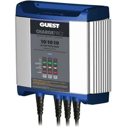 12-Volt, 30-Amps Dual Output Guest 2633-OS-B Charge Pro Series Marine Battery Charger