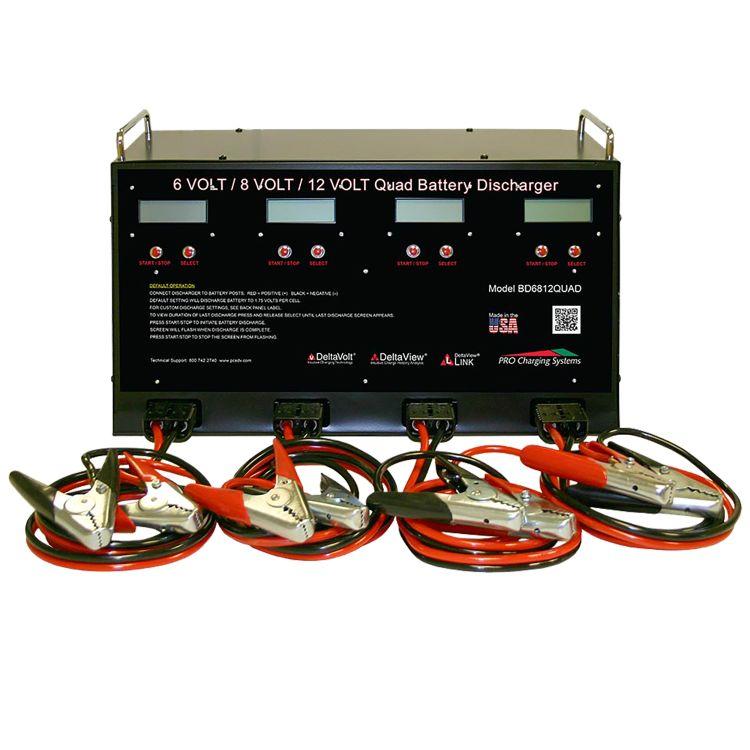 Pro Charging Systems 6V 8V 12V 4 Bank Battery Discharger