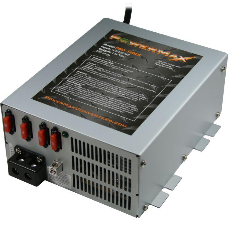 Powermax 100 Amp RV Converter Battery Charger Powermax PM3-100LK