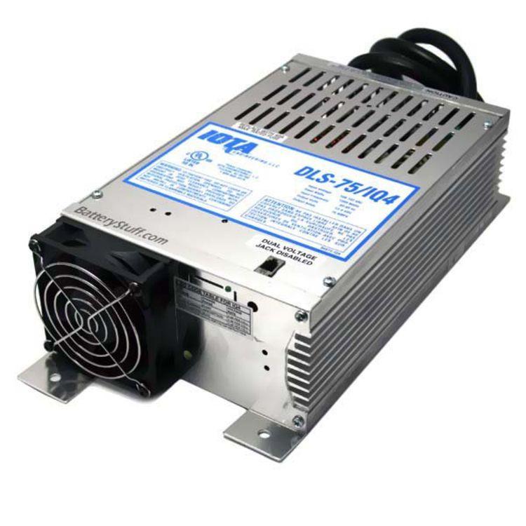 Iota 12 Volt 75 Amp W Integrated Iq4 Sensor Dls 75 Iq4