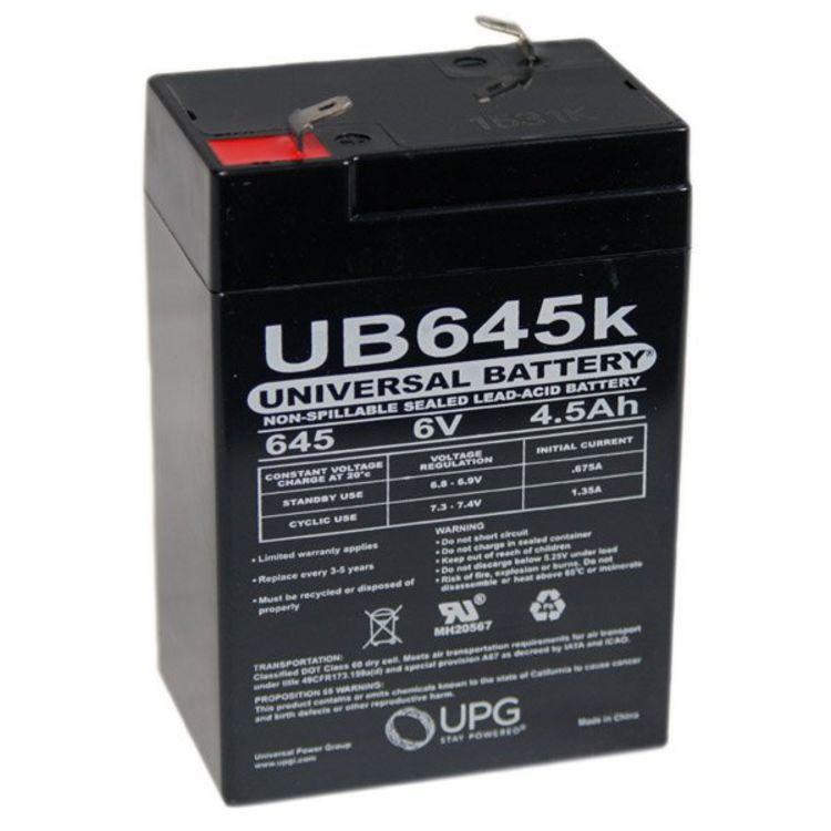 sla 640 universal battery 6v 4 5 ah sealed battery ub645k. Black Bedroom Furniture Sets. Home Design Ideas