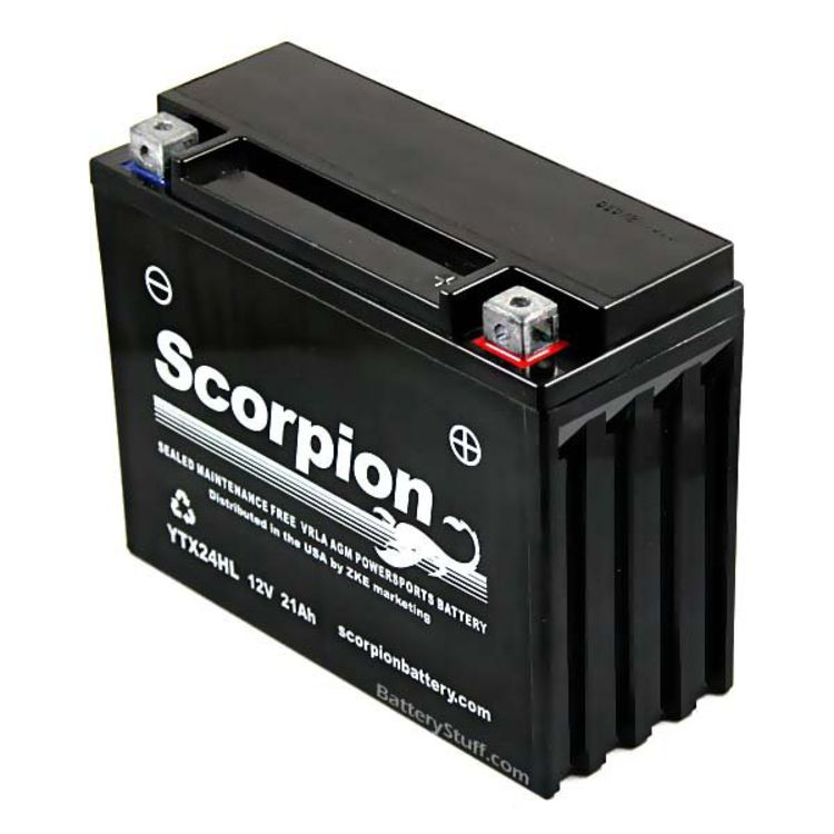 Ytx24hl bs battery scorpion 12 volt motorcycle batteries for Yamaha atv batteries