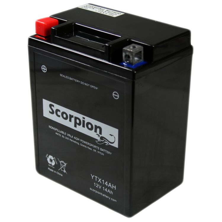 YTX14AH-BS Scorpion 12v 210 CCA AGM ATV & Motorcycle Battery