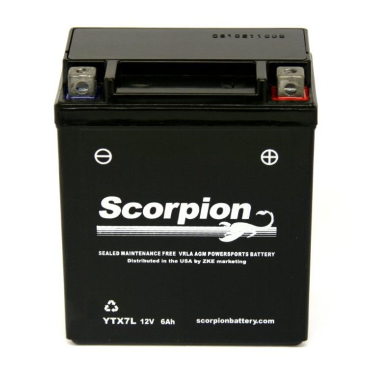 YTX7L-BS Scorpion 12v 90 CCA Sealed AGM Motorcycle Battery