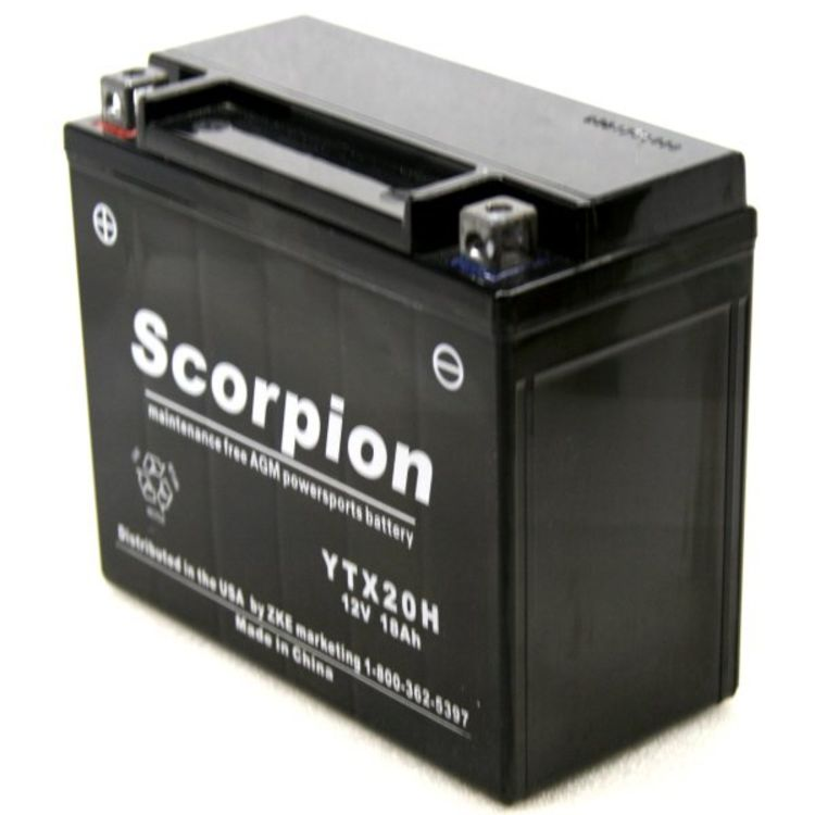 YTX20H-BS Scorpion 12v 320 CCA AGM Power Sport & Motorcycle Battery