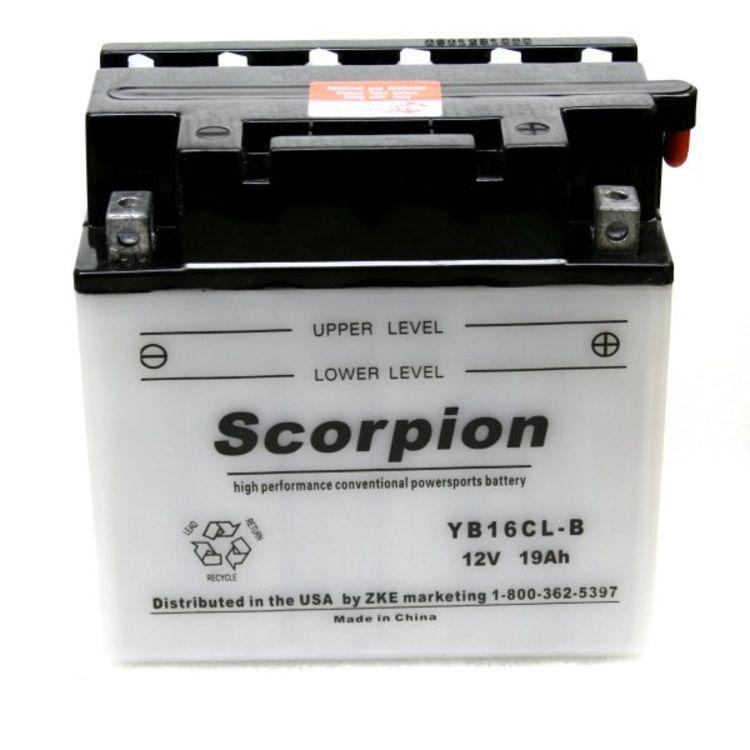 YB16CL-B Scorpion 12v 240 CCA Power Sport Wet Battery w/ Acid Pack