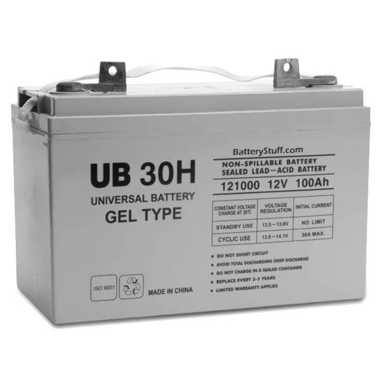 ub30h d5874 universal 12v 100 ah deep sealed cycle gel battery ub30h. Black Bedroom Furniture Sets. Home Design Ideas