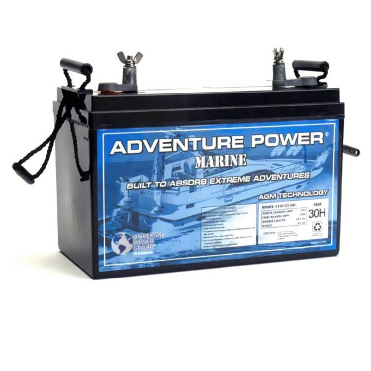 adventure power 12v 110 ah agm rv marine battery. Black Bedroom Furniture Sets. Home Design Ideas