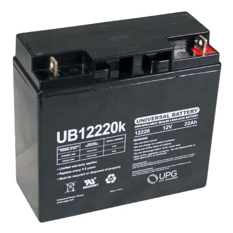 sla 12220 universal 12 volt 22 ah sealed battery ub12220. Black Bedroom Furniture Sets. Home Design Ideas