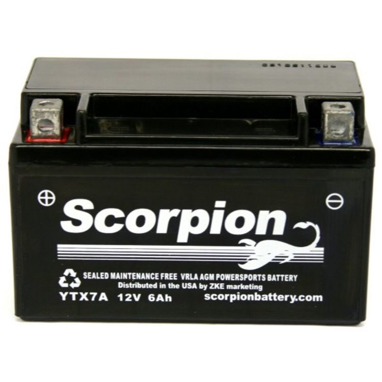 YTX7A-BS Scorpion 12v 120 CCA AGM Power Sport & Motorcycle Battery