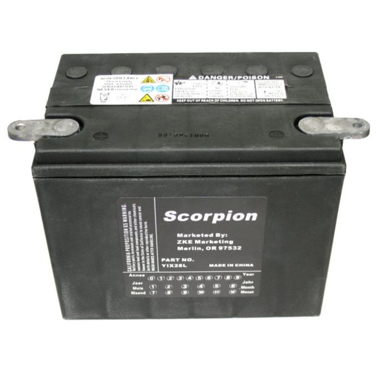 hYIX28L Scorpion 12v 380 CCA Harley HVT-7 AGM Motorcycle Battery