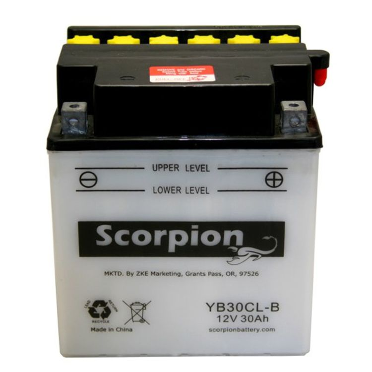 YB30CL-B Scorpion 12v 360 CCA Power Sport Wet Battery w/ Acid Pack