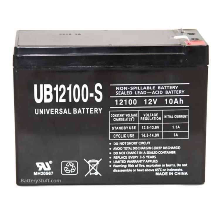 Universal 12v 10 AH Deep Cycle Sealed Lead Acid Battery SLA-12100