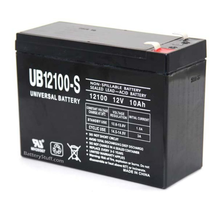 Sla 12100 Universal 12v 10ah Sealed Battery Ub12100 S