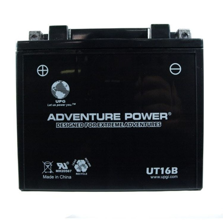 YT16B Universal Adventure Power 12v 240 CCA AGM Power Sport & Motorcycle Battery