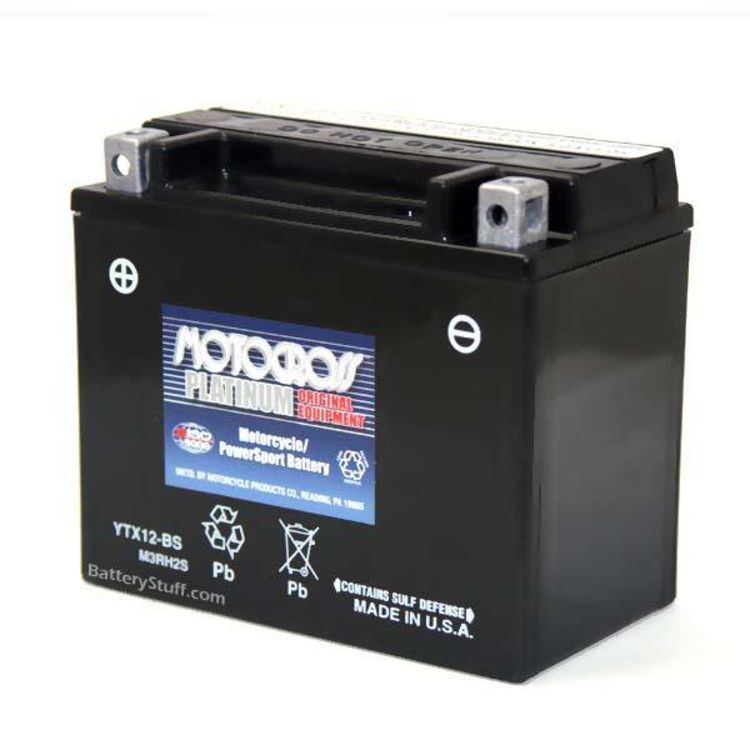 Ytx12 Bs Motocross 12v 180 Cca Sealed Agm Motorcycle Battery