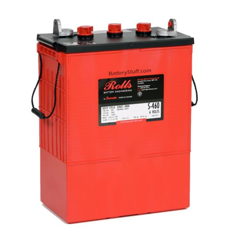 Rolls Surrette Battery 6 Volt 375ah S 480