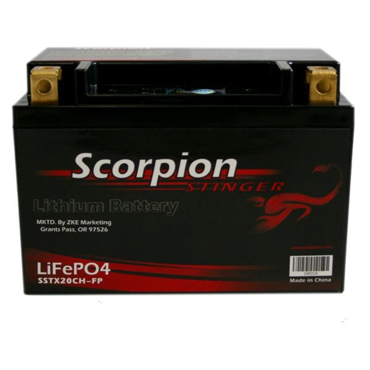 SSTX20CH-FP Scorpion Stinger 12v 507 CCA LiFePo4 Extreme High Output Battery