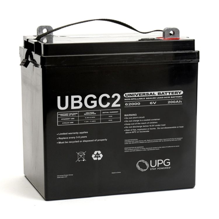 ubgc2 45966 universal battery 6 volt 200ah sealed agm. Black Bedroom Furniture Sets. Home Design Ideas