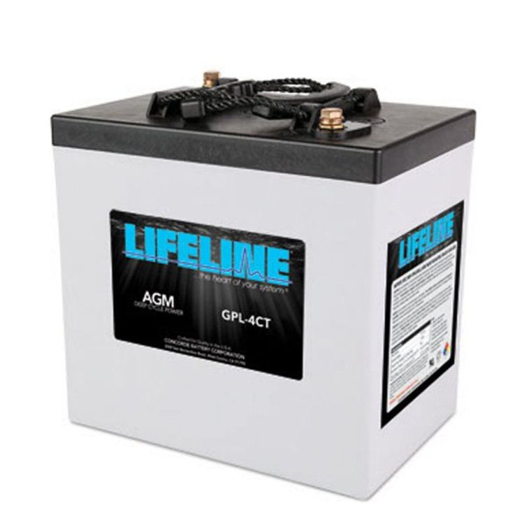 lifeline 6v 220 ah deep cycle sealed agm battery gpl 4ct. Black Bedroom Furniture Sets. Home Design Ideas