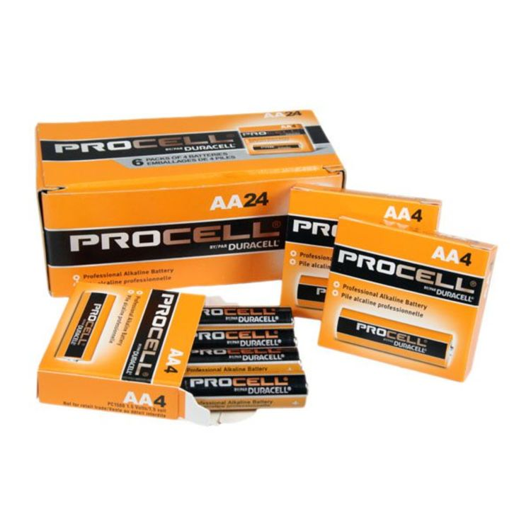 Duracell Procell Aa Battery 24 Pack Pc1500