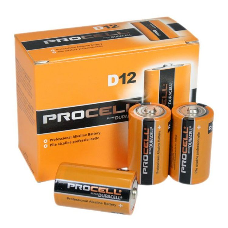 Duracell Procell D Battery 12 Pack - PC1300