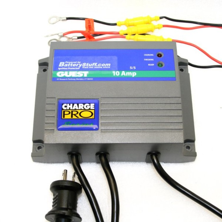 Guest 12/24V 10A 2 Bank Charger #2611A | Guest Battery Charger Wiring Diagram |  | BatteryStuff.com