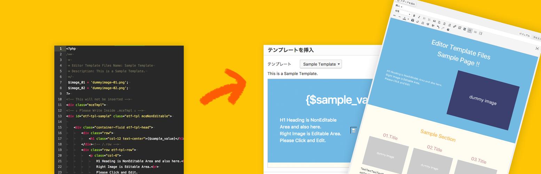 Wordpressプラグイン Editor Template Files