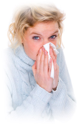 women with runny nose