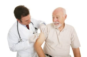 man getting a vaccine