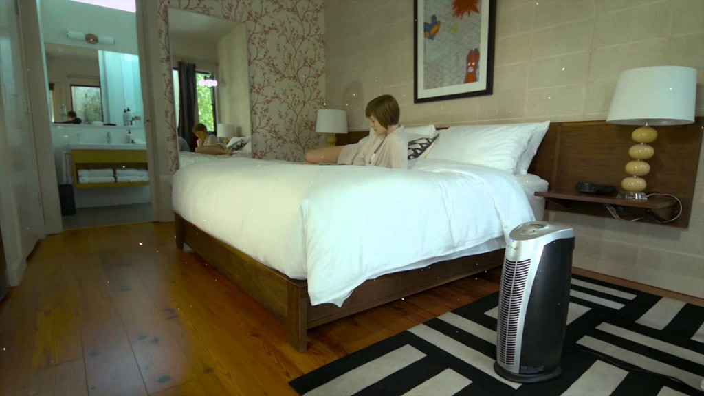 Finn air purifier bedroom
