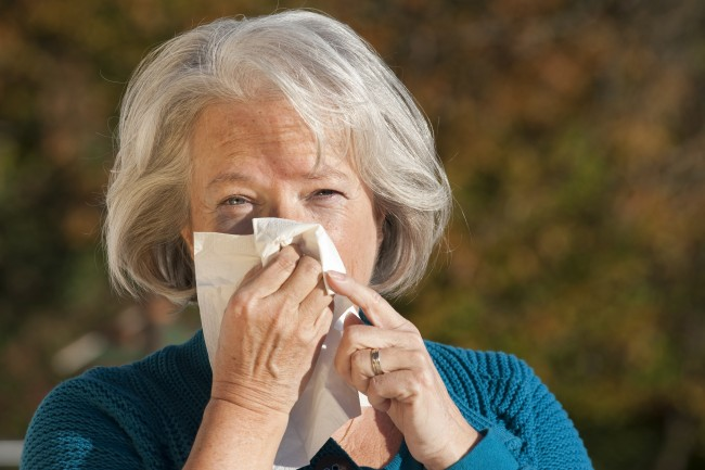 Fall Allergies older woman