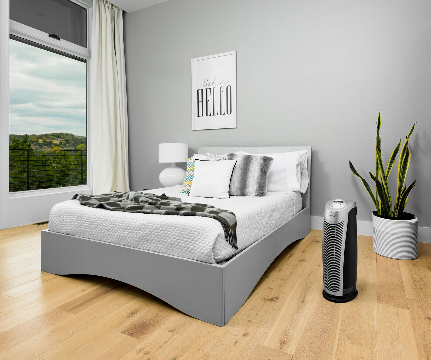 Finn air purifier in dorm room