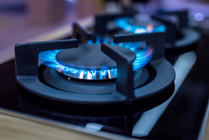 natural gas in home kitchen