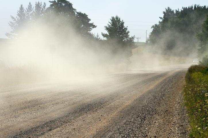 dust from roads
