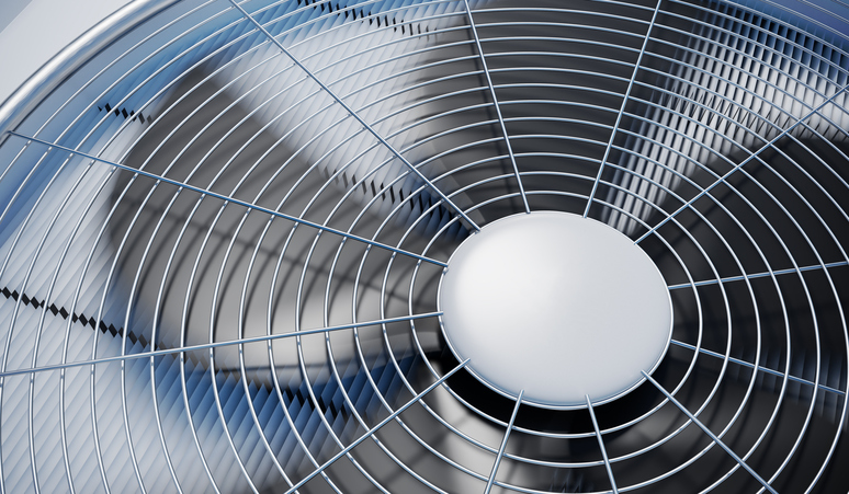 fan for a whole house dehumidifier