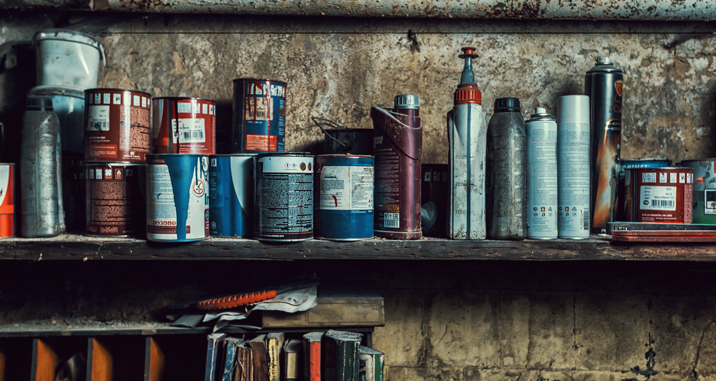 paint storage in garage to prevent poor indoor air quality in home