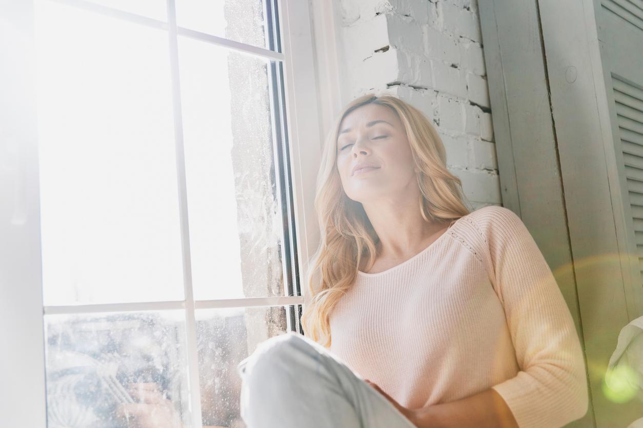 woman enjoying fresh indoor air