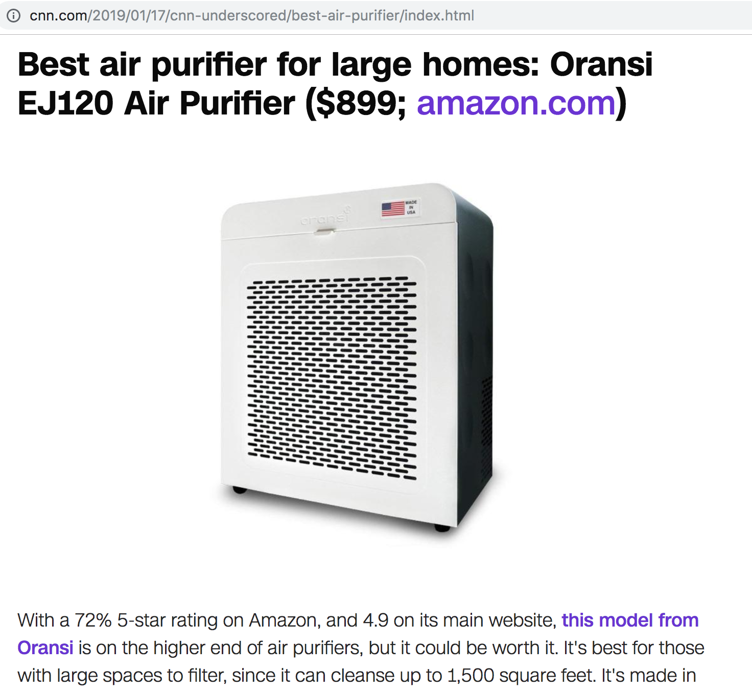 best air purifier for large rooms