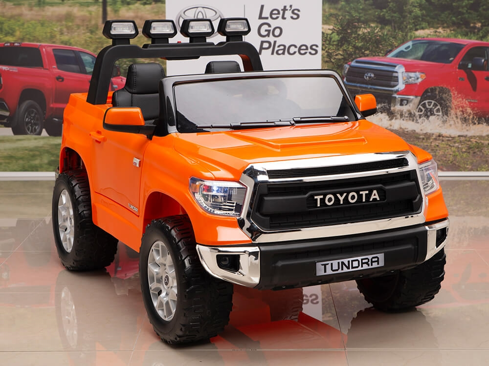 12v Kids Battery Powered Remote Control Special Edition Toyota Tundra Ride On Truck Orange