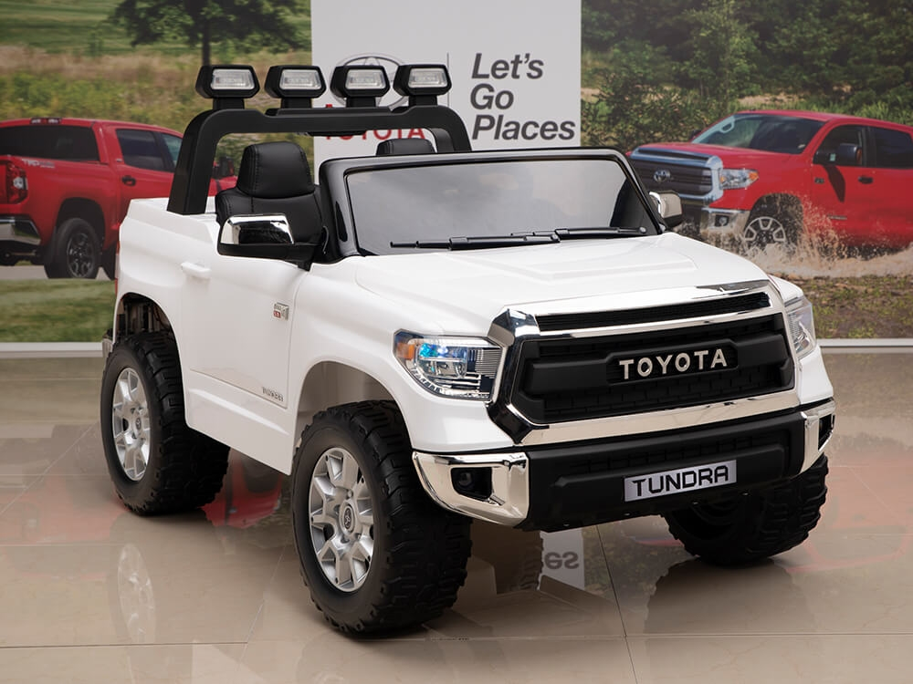 12v Kids Battery Powered Remote Control Special Edition Toyota Tundra Ride On Truck White