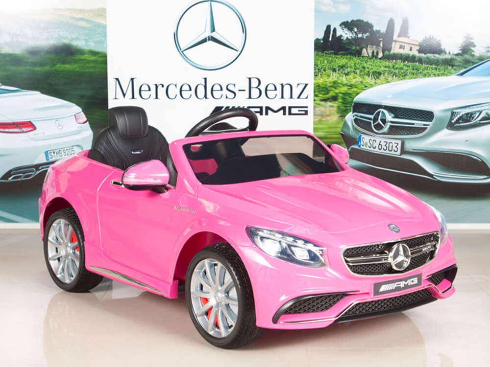 Mercedes Benz S63 12v Electric Kids Ride On Car With Remote Pink