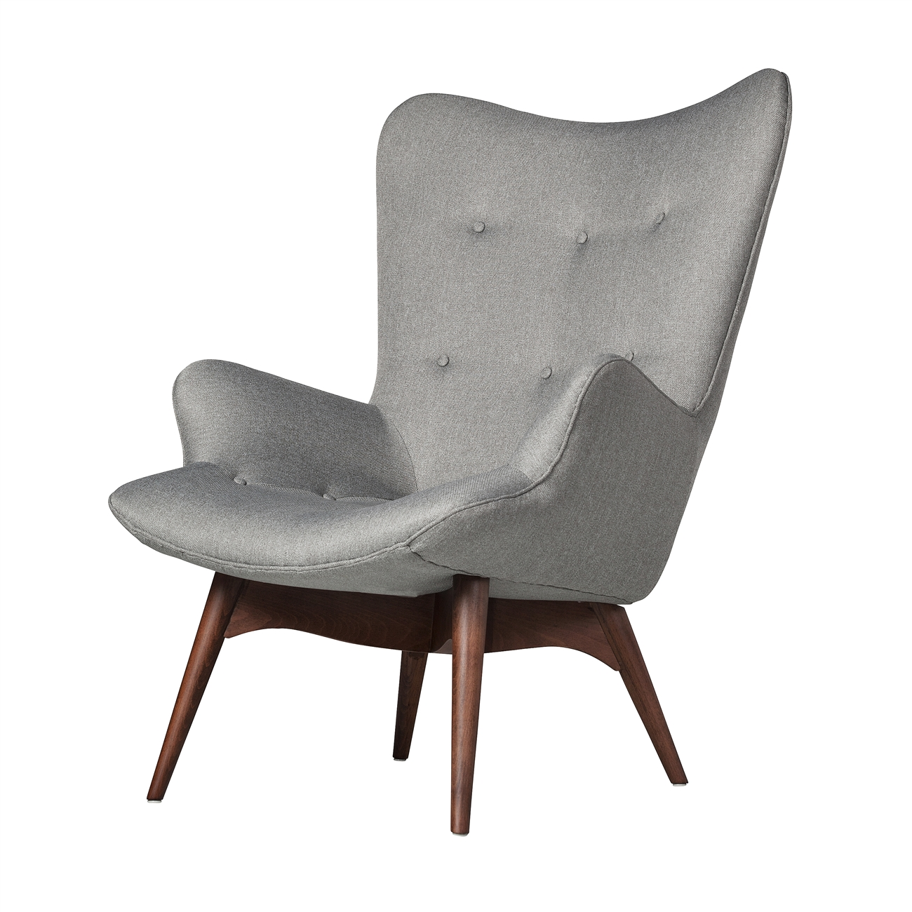 Featherston Style Contour Chair in Grey