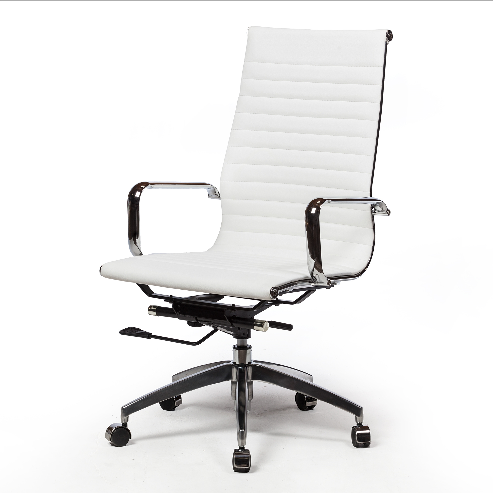 Mid Century Modern Chair In White
