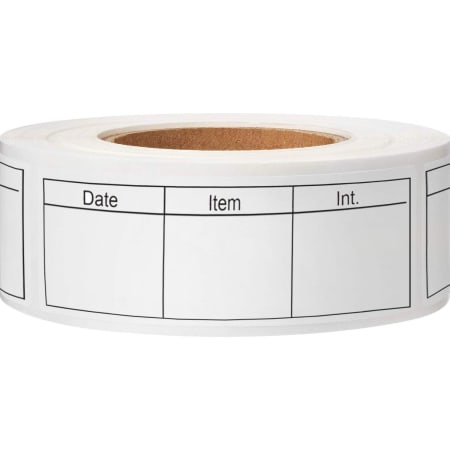Blank Super Removable Paper Food Storage Labels for Home and Restaurant 500 Roll