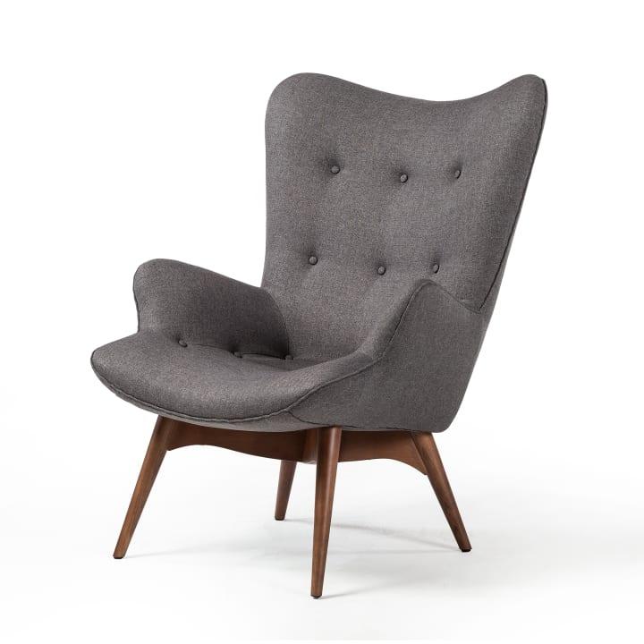 Featherston Style Contour Chair in Dark Grey